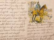 Writing Paper with Hussar Decoration