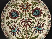 Dish bowl with persian flower decor