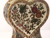 Zsolnay Historicist Heart-formed Vase