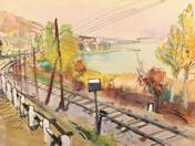 Landscape with Rail