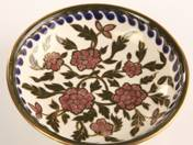 Zsolnay Offering Bowl with Iznik Decor