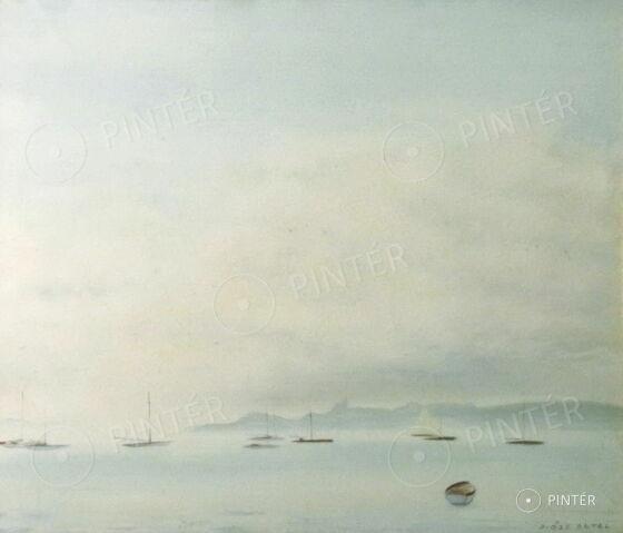 Antal Diósy (1895-1977): Tihany (tempera, carton, 59 x 69 cm, s.l.r.: Diósy Antal) Starting price: 80.000 HUF