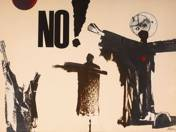 NO! (Collage against atomic warfare)