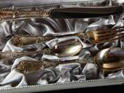 Vienne silver christening set with box