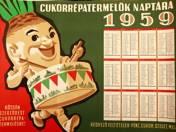 Sugar beet farmer's calendar poster