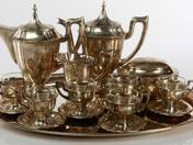 Art-deco silver coffee set for six