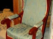 Biedermeier-style tabbed armchair