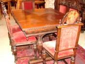 Neorenaissance dining room sets