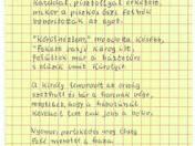 1918 c. vers autográf tintaírású kézirata
