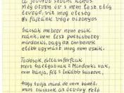 1975 c. vers autográf tintaírású kézirata