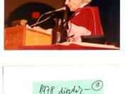 Díszdoktori címről szóló oklevél, melyet Faludy György Kanadában kapott.