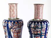 A pair of old Herend vases with japanese decor