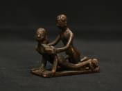 African bronze erotic statuette (two figures) 1.