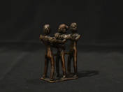 African bronze erotic statuette (three figures)