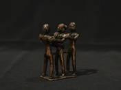 African bronze erotic statuette (three figures)