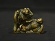 Japanese bronze erotic statuette (two figures) 1.