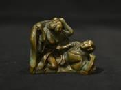 Japanese bronze erotic statuette (two figures) 1.