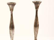 Sterling Silver Candlestick in Pair