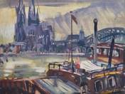 Port on the Rhine (Cologne) (1965)