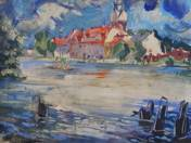 Rowboats on the River (Elblag)