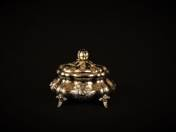 Pest Silver Sugar Box with Rose Decoration