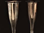 Pest Silver Vases in Pair