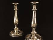 Vienna Antique Silver Candlesticks in Pair