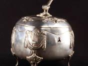 Vienna Silver Sugar box with Key