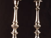 Pest Silver Candlesticks in Pair