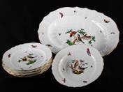 Herend Rothschild design plates (6 pcs)