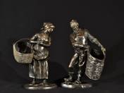 Pair of Dutch Fisherman Sculptures