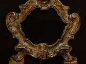 Antique silver table mirror frame