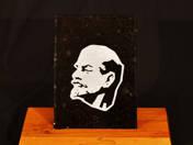 Table decoration Lenin portrait