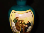 Russian vase with Lenin decor