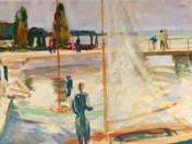 Sailboat at Pier of Füred (1960)