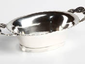 Antique Silver Offering Bowl from Pest