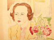 Portrait of a woman with Bouquet