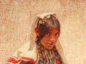 Girl in Bosnian Folk Clothes