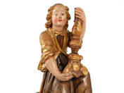 Baroque Angel Altar Decor with Candlestick