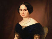 Portrait of a Woman in Blue Dress