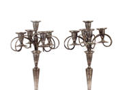 Viennese Silver Candelabre Pair