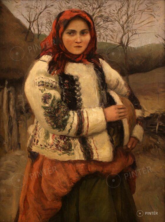 Oszkár Glatz (1872-1958): Girl in Traditional Costume (oil, canvas, 81 x 60,5 cm, unsigned) Starting price: 650.000 HUF