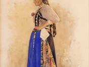 Girl in Traditional Clothing