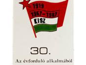 30. birthday of KISZ enameltable