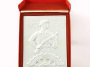 Militiaman porcelain plaque