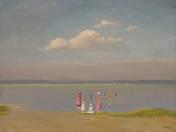 Lake Balaton with Bathers