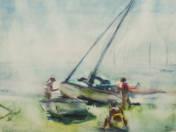 Sailboats on Lake Balaton