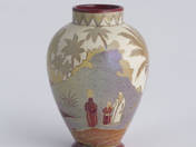 Zsolnay Small Vase with Orientalist Landscape Decoration
