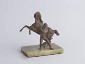 Jockey Halting his Horse