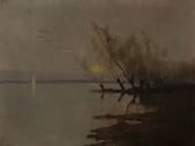 Twilight at Lake Balaton